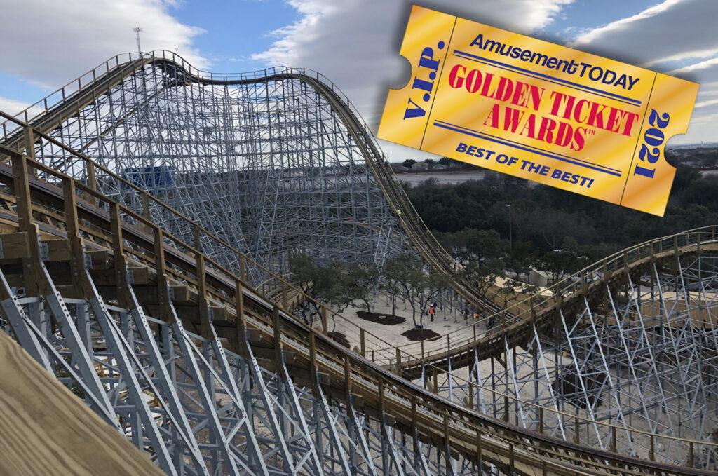 Skyline_Attractions_Wood_Coaster_Design_Texas_Stingray_SeaWorld_San_Antonio_Golden_Ticket_Award